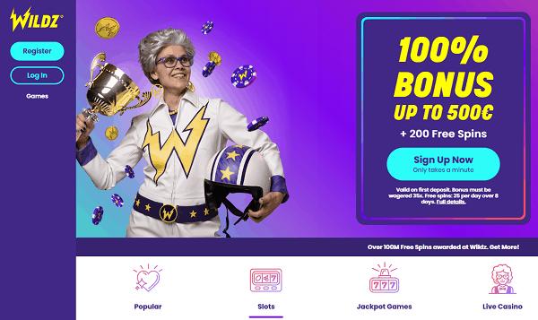 Wildz.com Online Casino Games
