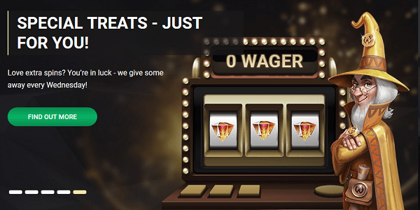 EXCLUSIVE BONUSES AND FREE SPINS
