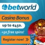Betworld Casino & Sportsbook 10 free spins no deposit required