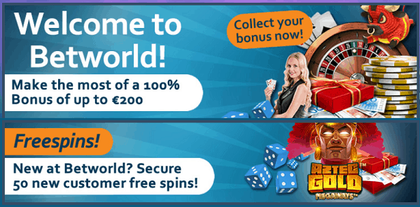 100% welcome bonus + 50 free spins on slot machines