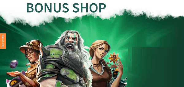 DozenSpins.com Bonus Shop and Tournaments