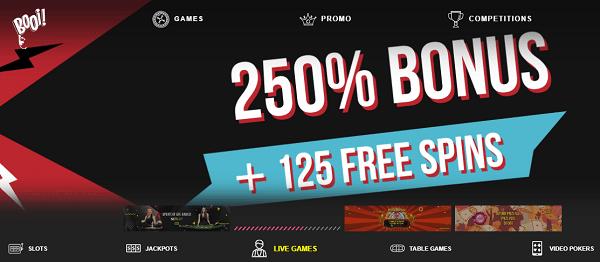 125 free spins bonus