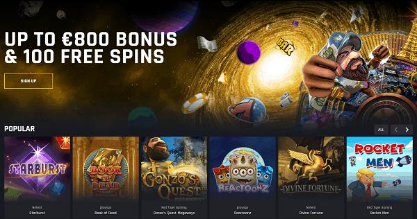 100 Gratis Spins Bonus