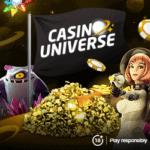 Casino Universe 20 free spins + 800€ bonus + 100 gratis spins