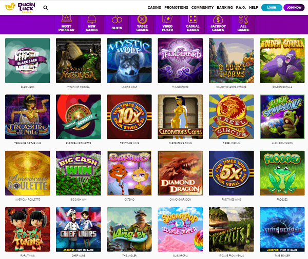 Ducky Casino 150 free spins
