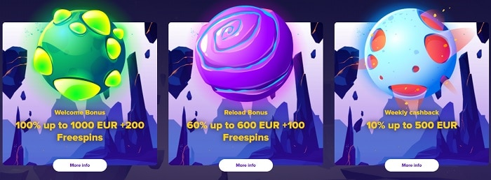 Get 100% bonus and up to 200 free spins!