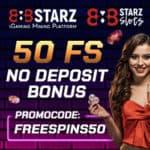 888Starz Casino 50 Free Spins Bonus No Deposit Required