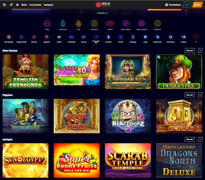 Wild Tokyo Casino Online and Mobile