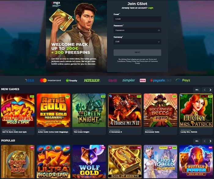 G slot free bonus