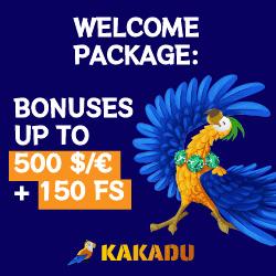 Kakadu 500 EUR bonus