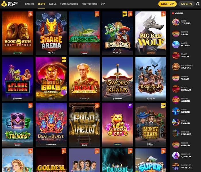 Create your gaming account with Rocket Play Casino